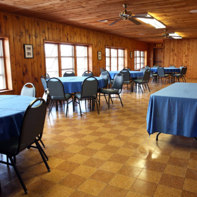 The lakeside Pine Room at Fair Hills