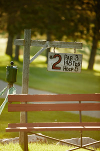 sign for hole #2 at Fair Hills' golf course